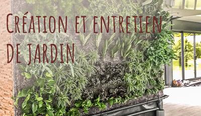 création et entretien de jardin